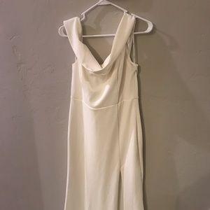 Long Lulu's off the shoulder white dress